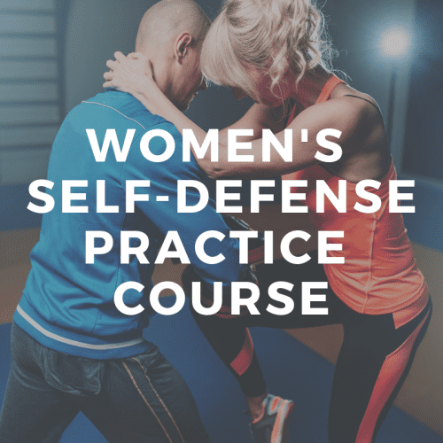 womens self defense practice class
