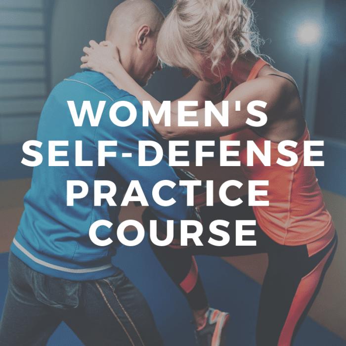 womens self defense practice class