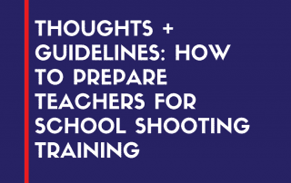 teacher training for school shooting
