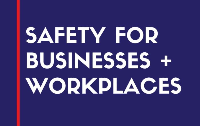 safety for business and work places